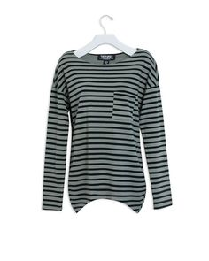 This soft, relaxed long sleeve tee features a chest pocket and drop shoulder styling.