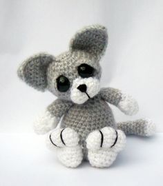 Cute idea for the grandkids!  Kitten Cat Amigurumi Crochet Pattern PDF  by PatchworkMoose