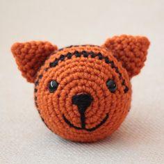 The Tiger: Chinese Zodiac Animals - Free Amigurumi Pattern here… Crochet Brooch, Knit Or Crochet, Crochet Crafts, Crochet Dolls, Yarn Crafts, Crochet Baby, Crochet Projects, Chinese New Year Zodiac, Halloween Crochet Patterns