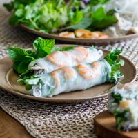 Vietnamese Pork and Shrimp Spring Rolls