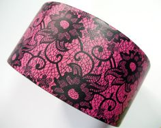 Pink and Black Lace Duct Tape  One Roll of by QuietMischief, $8.00