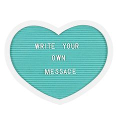 This aqua blue heart letter board will make a great addition to the bedroom of a teenager or child. Each letter board comes with 145 characters to create a custom message, quote or reminder to display. Red Company, Sign Display, Felt Hearts, Wall Signs, Slogan, Heart Shapes, Letter Board, How To Find Out, Inspirational Quotes
