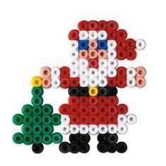 Hama Beads Design, Diy Perler Beads, Hama Beads Patterns, Perler Bead Art, Beading Patterns, Christmas Perler Beads, Christmas Ornament Crafts, Santa Christmas, Bead Crafts