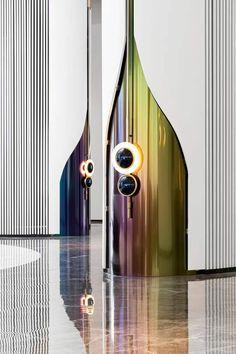 Modern Interior Design, Luxury Interior, Interior Design Inspiration, Interior Architecture, Window Display Design, Booth Design, Cladding Design, Feature Wall Design, Medical Office Design