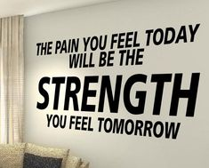 XXL The Pain exercise Workout Motivational Fitness Gym Life Quote wall vinyl decals stickers DIY Art Decor Bedroom Home Happiness Wisdom Quotes, True Quotes, Motivational Quotes, Inspirational Quotes, Cardio, Gym Design, Wall Design, Design Ideas, Deep