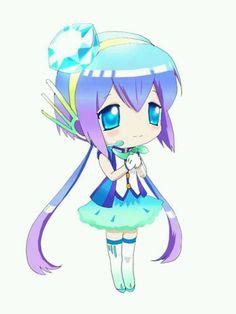 Aoki Lapis in Chibi! She's Kawaii! Kawaii Chibi, Cute Chibi, Anime Chibi, Kawaii Anime, Anime Manga, Anime Art, Vocaloid Characters, Chibi Characters, Hatsune Miku