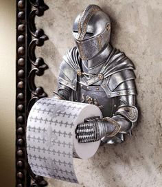 12 Bizarre Toilet Paper Holder Designs - From Savanna Paper Holders to Warrior Washroom Accessories (TOPLIST) Wooden Toilet Paper Holder, Toilet Paper Storage, Industrial Toilets, Toilet Paper Humor, Paper Roll Holders, Gothic, Paper Stand, Wall Mounted Toilet, Decorative Items