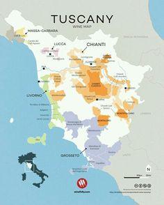 Tuscany wine map