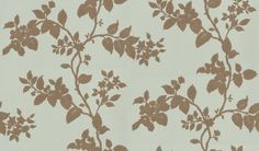 Cult (CA9086/080) - Carlucci di Chivasso Wallpapers - A beautiful floral trail, apple blossom in silhouette. Drawn in gold metallic ink on soft pale green background. Please request sample for true colour match. Paste the wall.