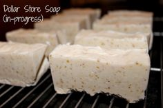 Make cold process soap - get your supplies from the dollar store!
