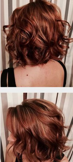 TRANSFORMATION: Blah To Red LOB | Modern Salon. Step-bystep instructions on hoy to get this color. Love the cut too!