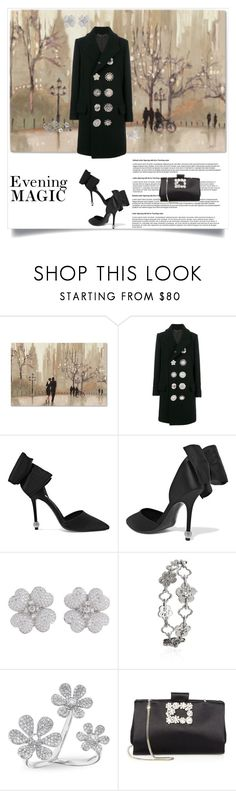 """Evening Magic"" by shoecraycray ❤ liked on Polyvore featuring Givenchy, Roger Vivier, Boodles and Anne Sisteron"