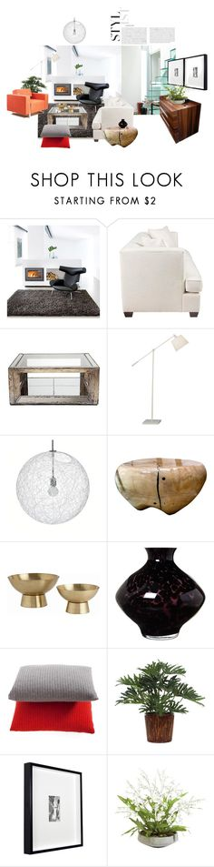"""""""Modern Living Room"""" by annmaira ❤ liked on Polyvore featuring interior, interiors, interior design, home, home decor, interior decorating, Linie Design, Robert Abbey, Arteriors and Pied a Terre"""