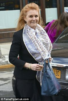 The Duchess of York leaving a Manhattan restaurant last week
