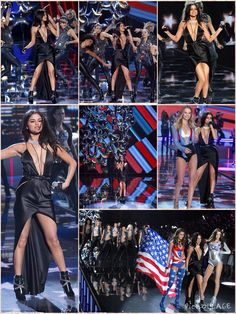 Selena Gomez didn't disappoint when she put on a sexy performance during Tuesday's Victoria's Secret Fashion Show. The 23-year-old looked fierce in a slinky dress as she hopped on the catwalk to belt out Me & My Girls at the event which marks the lingerie fashion shows's 20th anniversary. Selena went braless in the plunging black gown, which also featured a revealing centre slit and a diamante choker by Messika Jewellery.