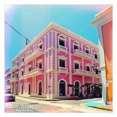 In Alt San Juan gibt es die farbenprächtigsten Häuser.
