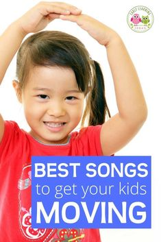 Here is a list of fun preschool movement songs. Try out a few of these action songs to get your preschoolers moving and grooving. Youtube Preschool Songs, Movement Songs For Preschool, Preschool Activities At Home, Circle Time Activities, Preschool Music, Music Activities, Music Lesson Plans, Music Lessons, Kids Songs With Actions