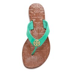 Tory Burch Alora Flat Thong Sandals ($125) ❤ liked on Polyvore
