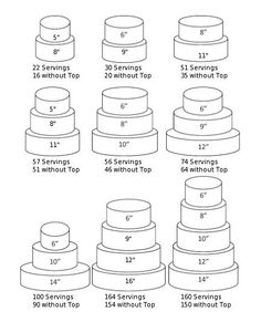 Two Tier Wedding Cake Pan Sizes