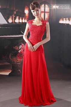US$120.99 Graceful A-Line Floor-Length Square Neckline Prom Dress. #Party #Graceful #Floor-Length #Dress