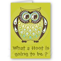 owl meeting party invitation card from Zazzle.com