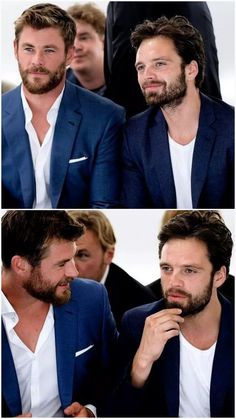 July 11, 17- Hugo Boss | Chris H. & Seb, there's too much hotness in these pictures!! :)