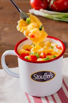 Need a new way to serve up your favorite Stouffer's Mac & Cheese? Turn up the comfort by enjoying it in your favorite mug. Macaroni Cheese, Macaroni And Cheese, Group Meals, Served Up, Dinners, Favorite Recipes, Mugs, Eat, Ethnic Recipes