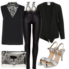 Party Outfits: Silver bei FrauenOutfits.de #party #partyoutfit #highheels #schmuck #ohrringe #accessoires #clutch #silber