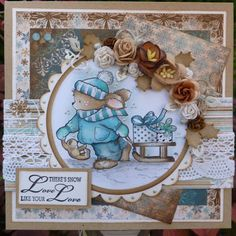 Love to Scrap : Cuddly Buddly en Magnolia Magnolia, Christmas Cards, Scrap, Love, Frames, Decor, Bunnies, Christmas E Cards, Amor