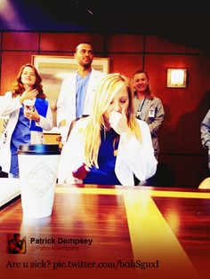 Jessica Capshaw , Sarah Drew  Jesse Williams