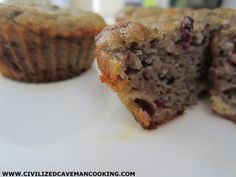 Blackberry Banana Muffins - Civilized Caveman Cooking Creations