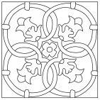 Cuerda Seca Stencil Patterns, Stencil Art, Mosaic Patterns, Painting Patterns, Embroidery Patterns, Hand Embroidery, Print Patterns, Dot Painting, Ceramic Painting