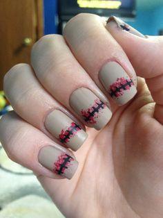 halloween nails nailart, nail frankenstien, nail art, halloween nails