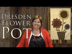 ▶ The Dresden Flower Pot: Easy Applique With Charm Packs! - YouTube @missouriquiltco