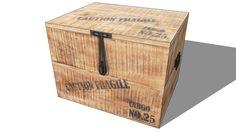 MALLE CARGO, Maisons du monde. Réf: 138075 Prix 89,90 € - 3D Warehouse