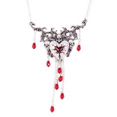 """""""Bleeding Heart"""" Necklace by Alchemy of England"""