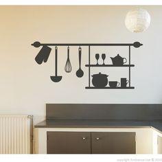 Vinilos decorativos para la cocina - Vinilo decorativo estante | Ambiance-live.com