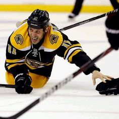 6/5/13 Gregory Campbell showing what hockey is all about finishing his shift with a broken leg during round 3 playoff game 3 at TD Garden vs Pittsburgh Pens.