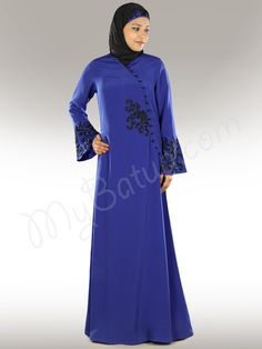 Madeeha Designer Beautiful Islamic Black Abaya/Dress, Modest Muslim Womens Clothing - www.mybatua.com