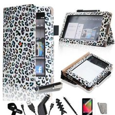 iMcase ® (Multi Color Leopard Pattern) Folio Bold Standby Case Cover for Amazon Kindle Fire (Doesn't fit the Kindle Fire HD) + Stylus/Car Charger/Micro USB Cable/ Fishbone Cord Wrap/Bonus Velcro Cable Tie/Screen Film/Clearn Cloth by iMcase. $16.99. iMcase LLC is fully committed to the brand and the only authorized distributor of this product. Please read on if you feel that the case does not stand up correctly. The PU Leather material needs some time to break in. Once ...