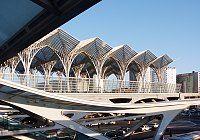 Images of Oriente Station, Lisbon, Portugal by Santiago Calatrava.