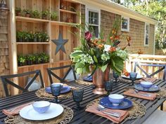 Space for Dining Alfresco - Backyard Transformations From Landscape Designer Chris Lambton on HGTV Outdoor Areas, Outdoor Rooms, Outdoor Living, Outdoor Decor, Backyard Retreat, Backyard Landscaping, Landscaping Ideas, Fresco, Outdoor Table Settings