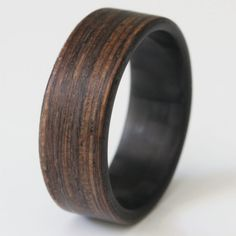 Wenge Twill Ring - Bridging the gap between old world and new. Stronger and more durable than an all wood ring, this ring will not let you down. | Starting at $189.00