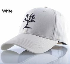 8f5a8cba306 Snapback Cotton Solid Baseball Cap Tree Embroidery Dad Hat For Women Men