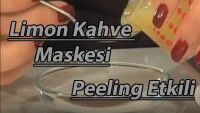 Limon Kahve Maskesi ile Peeling Etkisi