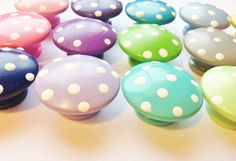 Polka Dot Drawer Knobs for your Dresser by TheLittleNursery, $4.00