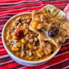 High Protein Creamy Taco Soup - Kinda Healthy Recipes High Protein Recipes, Healthy Protein, Healthy Recipes, Healthy Dinners, Advocare Recipes, High Protein Snacks, Lean Protein, Skinny Recipes, Healthy Weight