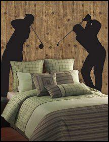 golf bedroom decor decor pinterest golf bedrooms and men cave