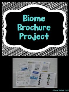 """Your students will love this project on biomes!  For this project, students either pick or are assigned a biome.  Then, they are given the information sheet that informs them that they have been hired by a travel agency named """"Teacher Travel"""" and they must create a brochure about their biome to convince people to visit.This project includes a project sheet for students (with rubric for self-assessment) and a rubric sheet for you to grade (2 to a page)."""