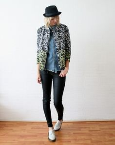 Flower jacket (by Sietske L) http://lookbook.nu/look/3404787-Flower-jacket